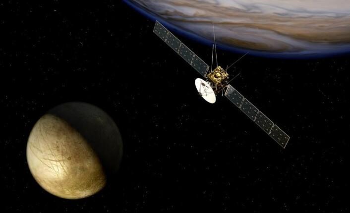ESAs JUICE-sonde, som skal skytes opp i 2022, etter planen. (Foto:ESA)