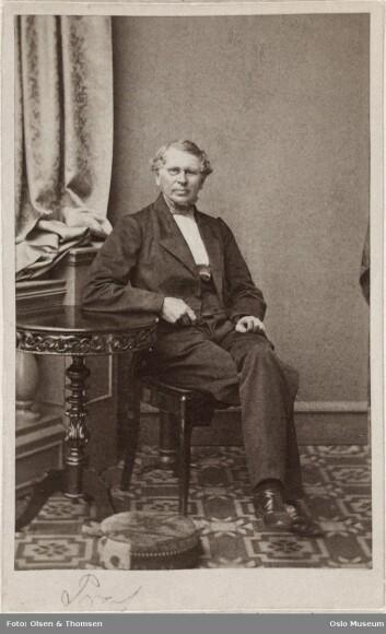 Halvor Heyerdahl Rasch (1805.1883), som var konservator, naturviter og erfaren jeger. (Foto: Oslo Museum.)