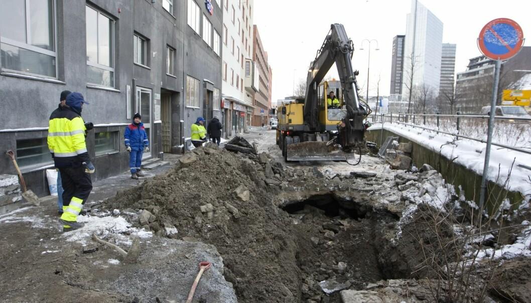 Forskerne oppfordrer Oslo kommune til å renovere vann- og avløpsrørene oftere enn de har gjort til nå. Foto: Håkon Mosvold Larsen, NTB scanpix)