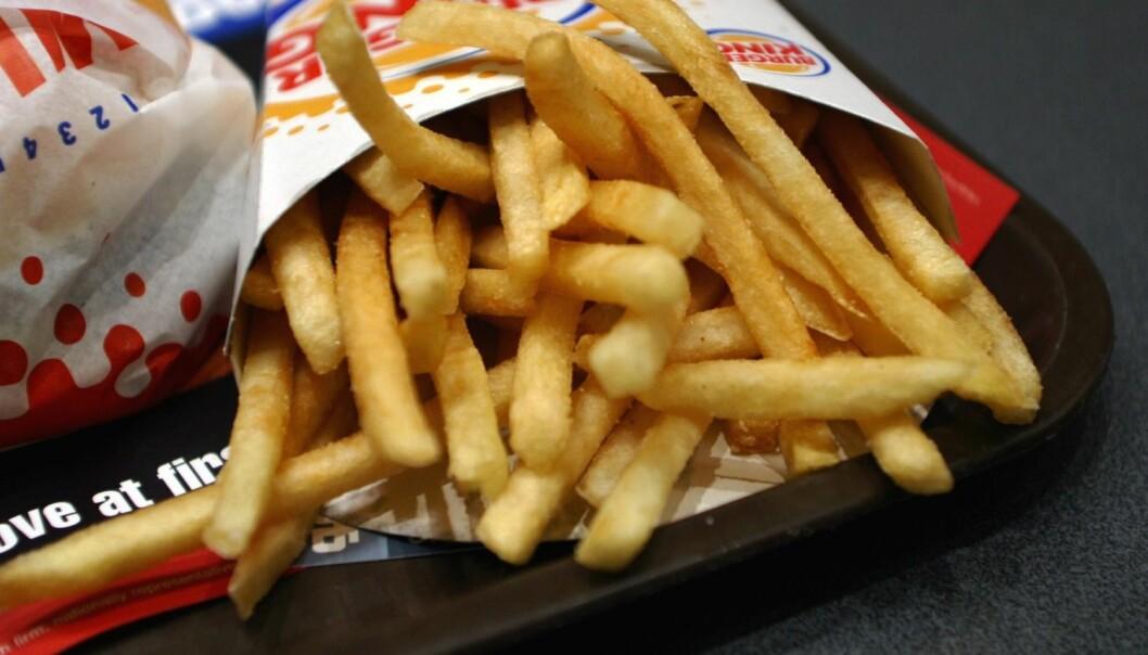Aller mest akrylamid fant Helsedirektoratet i pommes frites solgt hos Burger King på Oslo City.  (Foto: Knut Fjeldstad/NTB Scanpix)