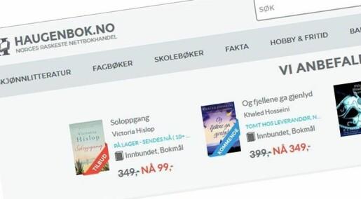 Nettbokhandel er kundenes favoritt