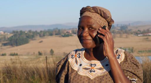 I Afrika har de fleste mobiltelefon