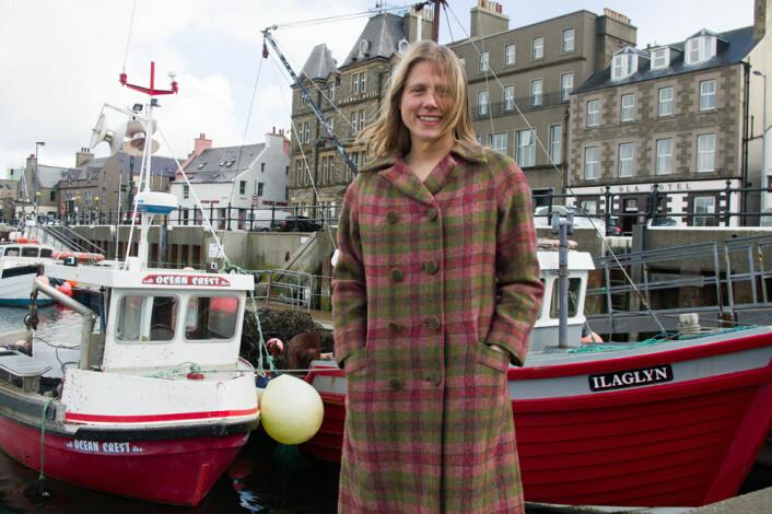 Ragnhild Ljosland forsker på språk, og fra senteret for nordiske studier i Kirkwall ser hun godt hvor opptatt orknøyinger er av vikingarven. (Foto: Georg Mathisen)