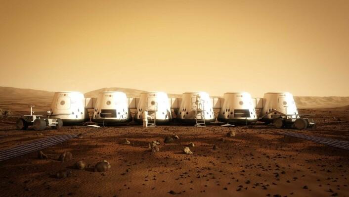 Hvis alt går etter planen, skal de 24 Mars- farerne bo slik. (Foto: AFP)