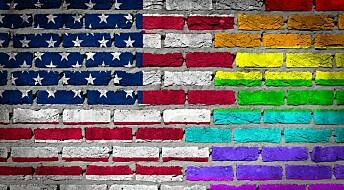Flere amerikanere godtar homofili
