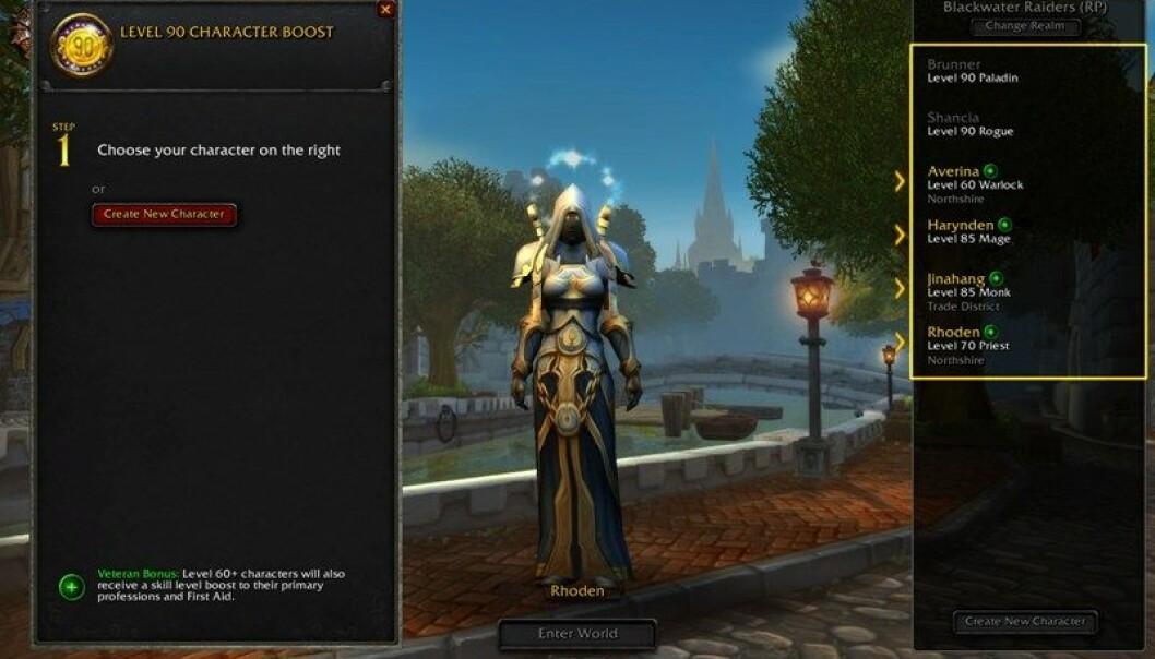 Du kan fint justere på utseendet til avataren din, men jo penere man gjør den, jo større er sannsynligheten for at du får hjelp fra andre spillere.  (Illustrasjonsbilde: Blizzard Entertainment.)