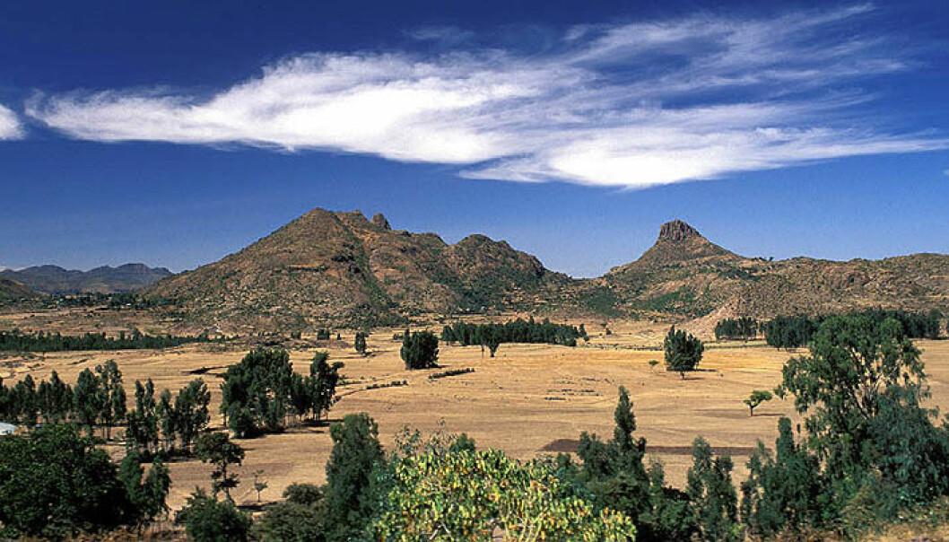 Et sted i Etiopia ble et menneske tenåring for aller første gang. Dette bildet er tatt i nærheten av byen Yeha nord i Etiopia. (Foto: Jialiang Gao, Wikimedia Commons)