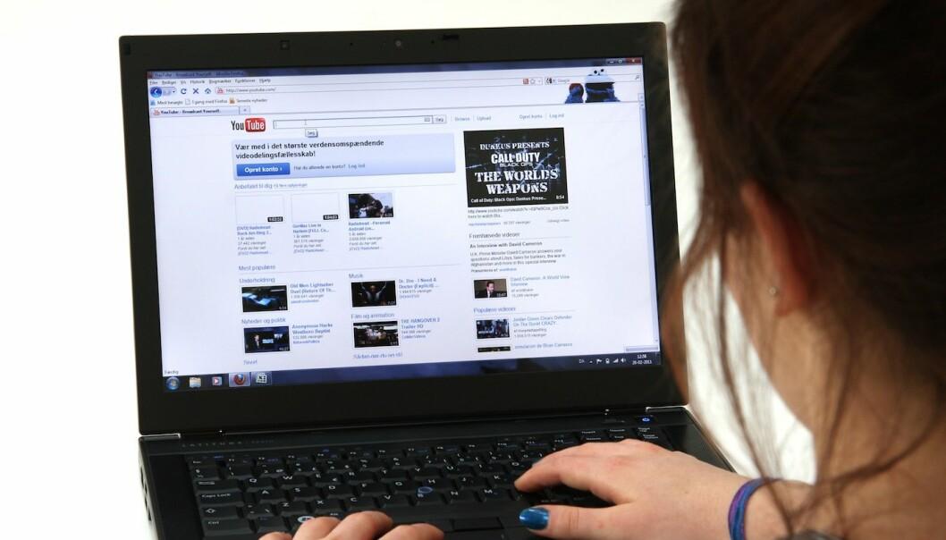 YouTube setter ny rekord for sosiale medier med 77 av maksimalt 100 oppnåelige brukertilfredshetspoeng. (Illustrasjonsfoto: Colourbox)