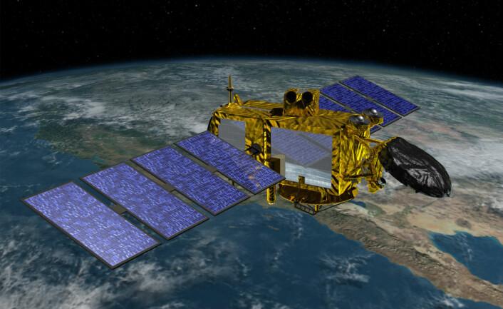 Jason 3 skal blant annet måle hvordan havnivåene varierer fra sted til sted på jordkloden. (Foto: (Illustrasjon: NASA/JPL))
