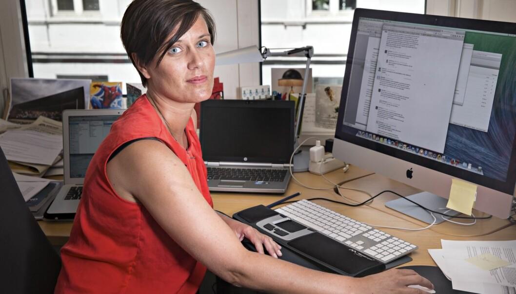 Netthets rammar menn og kvinner forskjellig. Kvinner får langt meir seksualisert hets enn menn, ifølge Aina Landsverk Hagen (bildet). (Foto: Aftenposten)