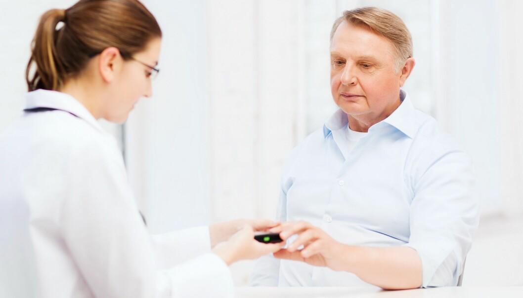 Når du får en type 2-diabetes-diagnose, går du ned i vekt, viser ny forskning. Tidligere undersøkelser har ellers vist at diabetikere ofte legger på seg etter at de har fått diagnosen. (Foto: Colourbox)