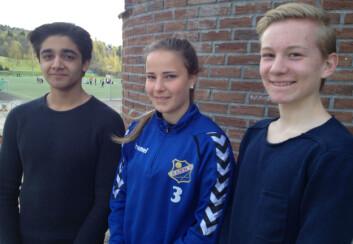 Jobin Izadpanah, Mari Floor Brenden og Kasper Hellstrøm Nordahl kjenner seg ikke igjen i at regelbrudd er positivt. (Foto: Ida Korneliussen)