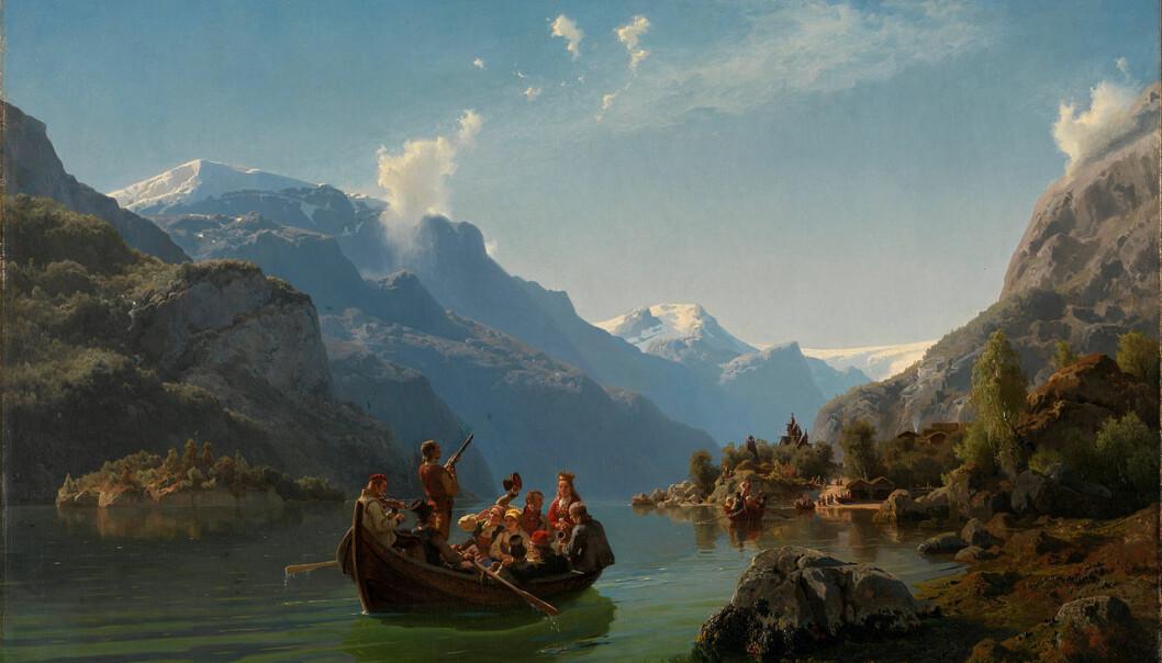Brudeferd i Hardanger ble malt av Adolph Tidemand og Hans Gude. Det har vært uenighet om bildet som henger i Nasjonalgalleriet i Oslo, er orginalen. Tore Kirkholt mener at det er det.