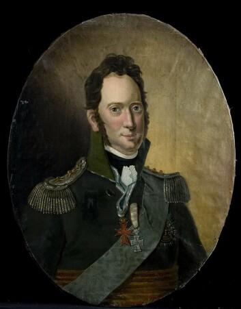 Prins Frederik av Hessen, stattholder i Norge 1810-13. Olje på lerret.  (Foto: Norsk folkemuseum, Wikimedia Commons. Bildet er offentlig eiendom)