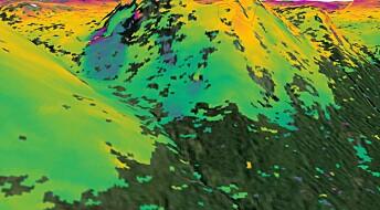 Satellittradar gir bilder av bevegelser i jordskorpen