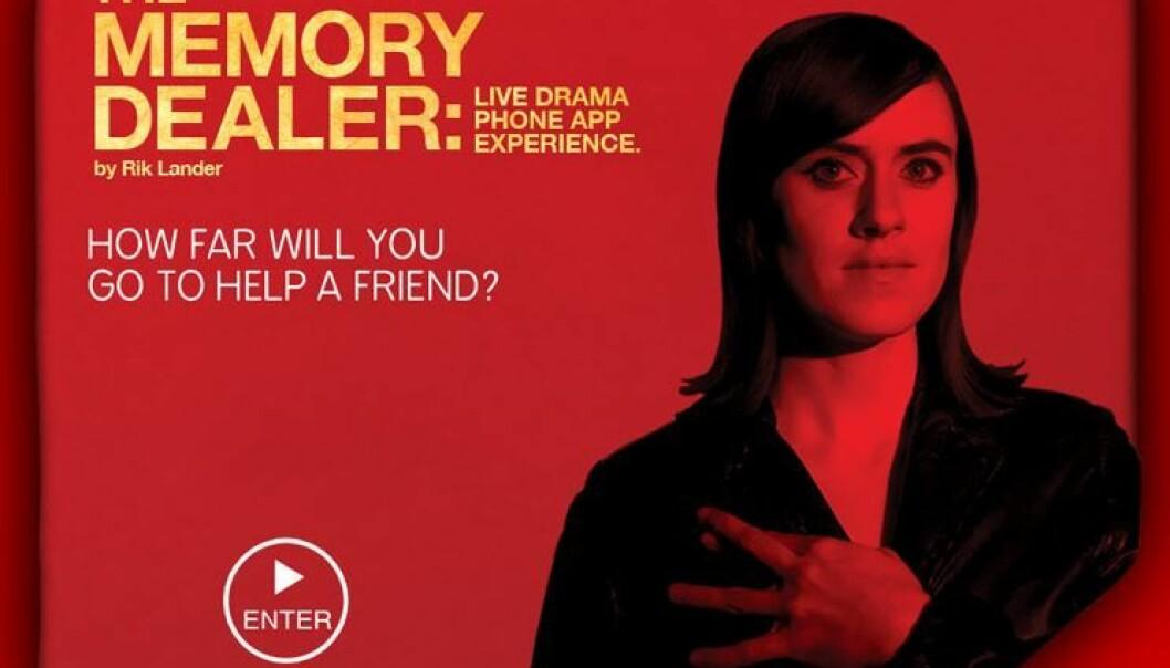 «The Memory Dealer» er et interaktivt filmprosjekt av Rik Lander, der publikum selv er deltakere i handlingen. (Illustrasjon: The Memory Dealer/Rick Lander)