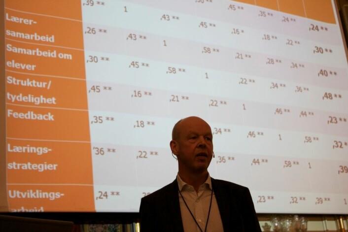 Thomas Nordahl mener vi nå har mange resultater fra skoleforskning som peker i samme retning.  (Foto: Bård Amundsen)