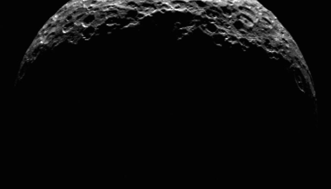 Nordpolen på Ceres