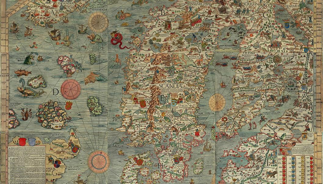 Carta Marina, det tidlegaste nokonlunde korrekte kartet over den nordiske regionen, vart laga av Olaus Magnus, diplomat, etnolog, kartograf siste katolske erkebiskop i Sverige. Han brukte 12 år på kartet, som vart trykt i Venezia i 1539.
