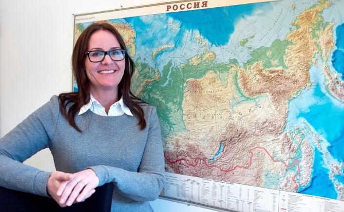 – Russerne bryr seg lite om bedriftens nøkkeltall. De stoler mer på en person som bruker tid på dem og som deler personlig informasjon, sier Gøril Voldnes. (Foto: Audun Iversen)