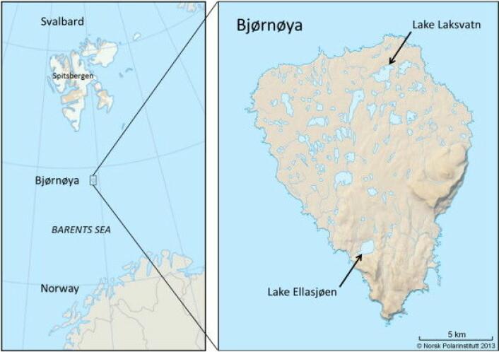 Kart over Bjørnøya. (Foto: (Illustrasjon: Framsenteret))
