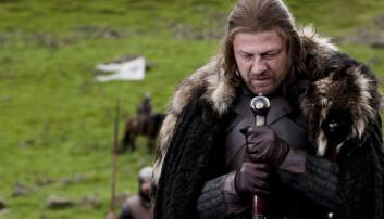 Eddard Stark med sverdet sitt, Ice, med blad av valyrisk stål. (Foto: Nick Briggs, HBO/AP)