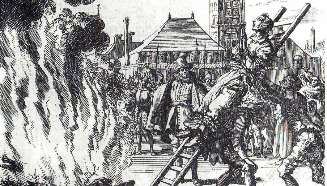 Ideene om hekser og trolldom kom til Finnmark via handelsvirksomheten med Europa. (Illustrasjon: Wikimedia Commons)