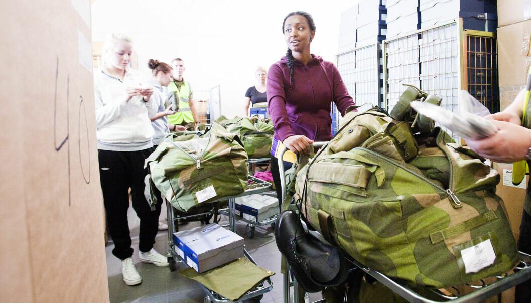 Dagens militære kvinner har høg toleranse for mannskulturen i Forsvaret. Dette kan endre seg som følgje av innføringa av kvinneleg verneplikt.  (Foto: Lars Magne Hovtun, NTB scanpix)