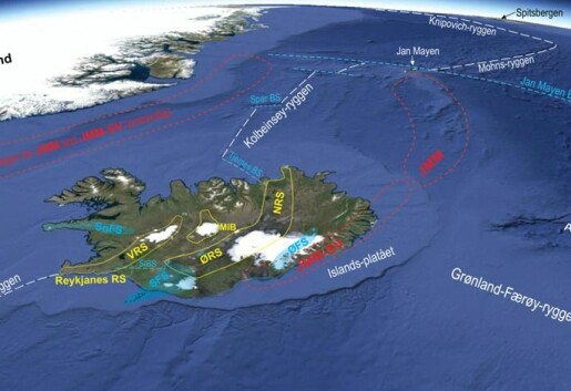 Dypt begravet kontinental jordskorpe under SØ-Island