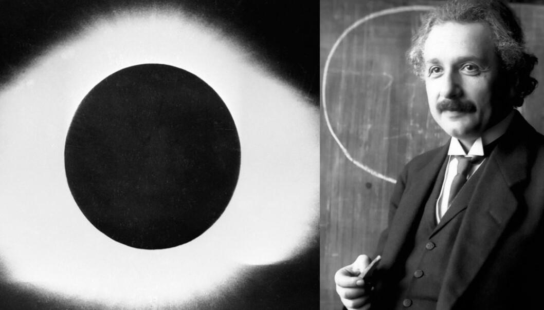 Ei total solformørking i 1919 medverka til å gi teorien til Einstein enorm merksemd verda over.  (Foto: NTB scanpix/Ferdinand Schmutzer)