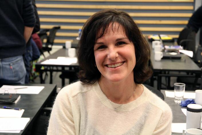 Forsker Wendy Waalen ved Bioforsk mener grønne oljenæringa i Norge har ei framtid i Norge. Til beste for både korn, dyr og folk.  (Foto: Anita Land, Bioforsk)