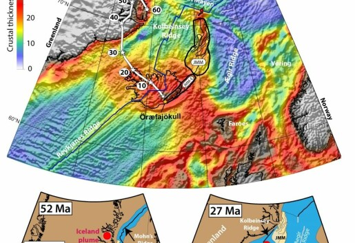 Deeply buried continental crust under Iceland