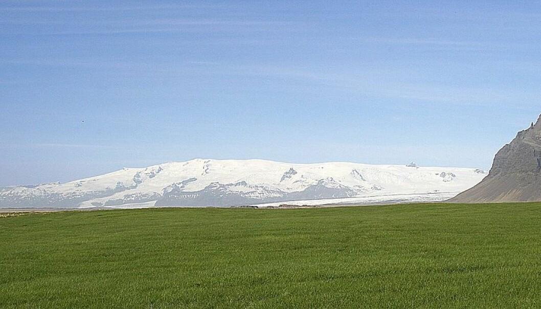 Öræfajökull på Island. Under dette området kan det ligge en bit av et gammelt kontinent. (Foto: Guillaume Baviere, CC BY 2.0)