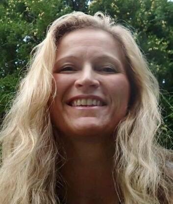 Brita Solveig Pukstad anbefaler solkrem med minimum faktor 30, og smøring annenhver time. (Foto: Privat)