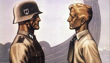 Adolf Hitlers egen militærorganisasjon SS vervet om lag 4500 unge norske menn til tjeneste for Nazi-Tyskland på Østfronten mot Sovjetunionen. Nesten 900 av dem døde, og mange fikk vanskelige skjebner etterpå. Mye av dette ble ikke snakket om etter krigen. Nå har for første gang en profesjonell historiker gransket tanker og holdninger hos nordmenn som gikk i tysk krigstjeneste. (Illustrasjon fra en tysk verveplakat)