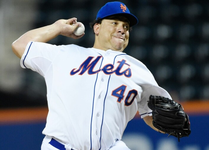 Pitcheren Bartolo Colon i aksjon for New York Mets mot Washington Nationals i september 2014. Hjemmebanen til Mets, Citi Field, ligger bare et veldig langt baseballkast unna New York Hall of Science. (Foto: Robert Deutsch, USA Today Sports/Reuters)