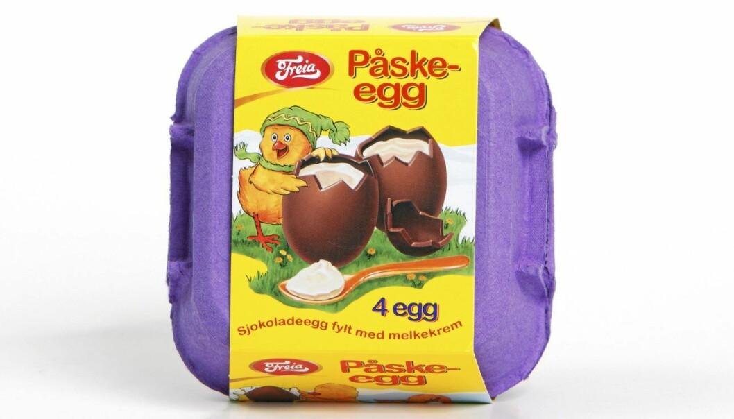 Freia har fått hard medfart de siste ukene på grunn av sjokoladeprodusentens bruk av palmeolje i påskeeggene.  (Foto: Freia)