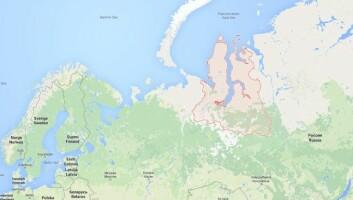 Kratera er funne i Jamalo-Nenetsk-regionen i det nordvestlege Russland.  (FOTO: GOOGLE MAPS)