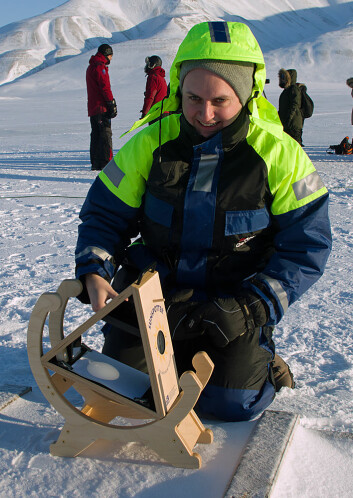 Kjellmar Oksavik sørget for nedtelling og dagens største solgjengivelse, men fikk ikke med seg det dagnordlyset han hadde håpet på. (Foto: Georg Mathisen)