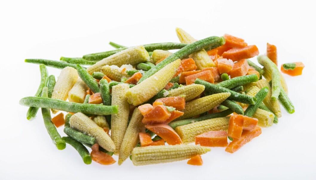Frosne grønnsaker bevarer mer av næringsstoffene enn ferske grønnsaker som blir lagret over tid.  (Foto: Frode Hansen, NTB Scanpix)