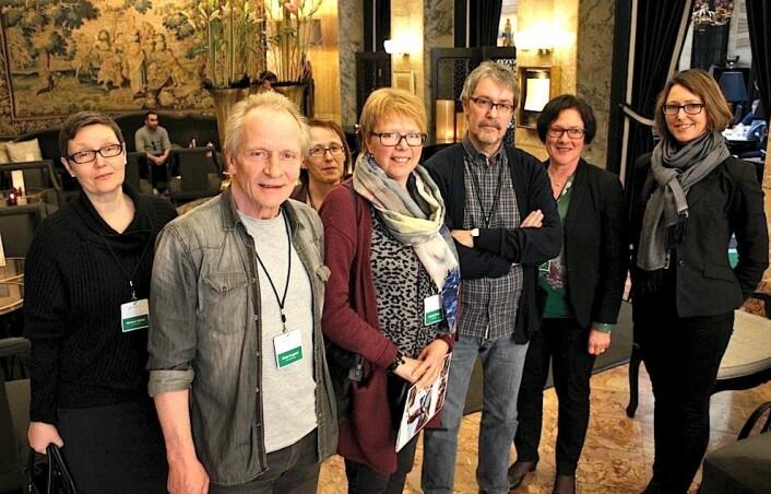 En gruppe rektorer og lærere fra Førde var på Grand Hotel i Oslo for å høre forskerne fortelle om hvorfor skolene deres er best i Norge.  (Foto: Bård Amundsen)