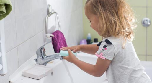 Bedre vask holder både barn og voksne friske