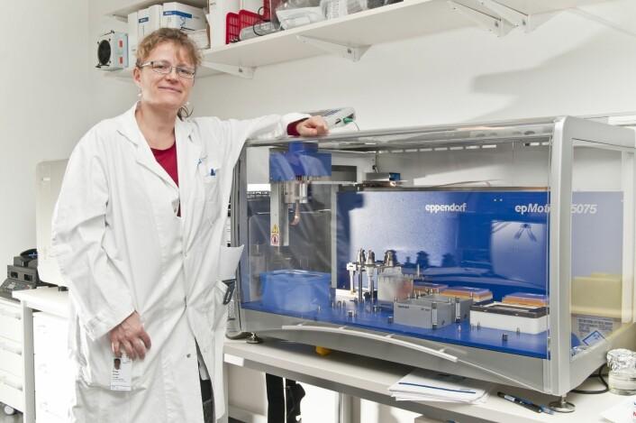 Åslaug Helland, overlege ved Oslo universitetssykehus og leder for Kreftforeningens nasjonale kompetansemiljø for lungekreft, har undersøkt celleprøver fra 154 opererte pasienter med den mest utbredte lungkrefttypen i Norge. (Foto: Kreftforeningen)