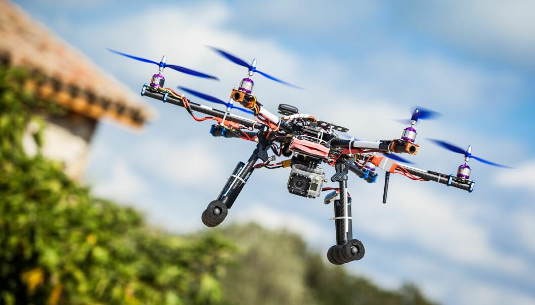 Droner på barnestadiet