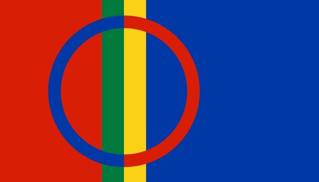 Det samiske flagget.  (Foto: Wikimedia)
