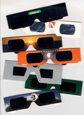 Det finnes et vell av sikre solbetraktningsbriller. (Foto: HBV)