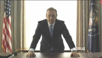 Kevin Spacey vender tilbake som politikeren med den tvilsomme karakteren, Frank Underwood, i den tredje sesongen av hitserien House of Cards. Mektigere enn noensinne.  (Skjermdump: YouTube)