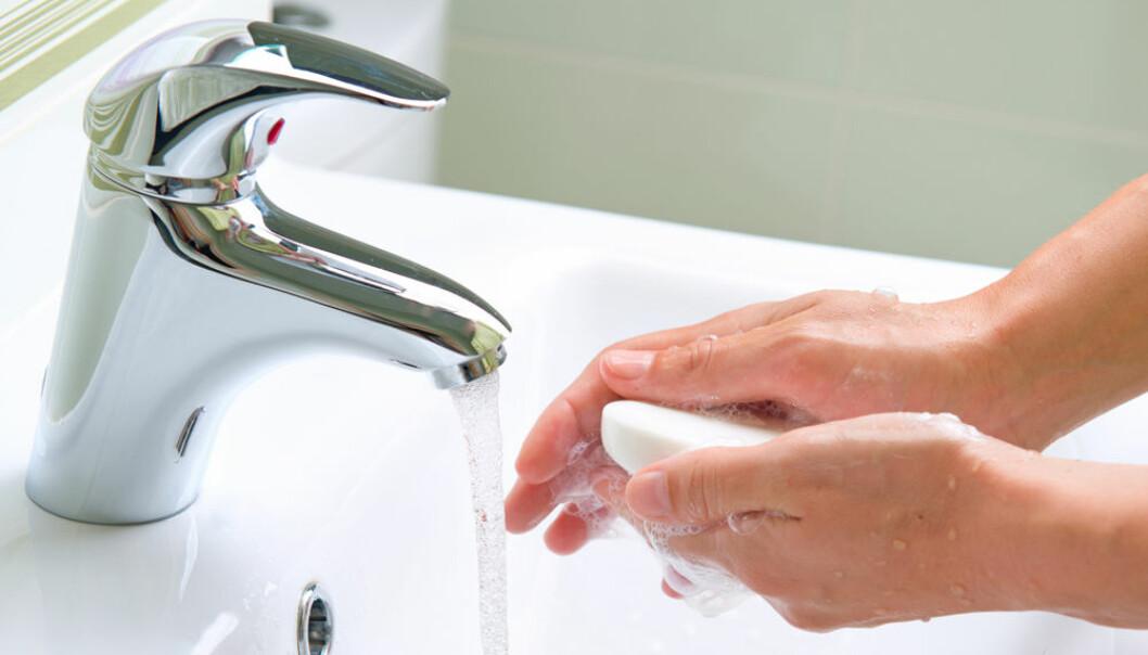 På en håndsåpe kan det være store mengder bakterier.  (Foto: Microstock)