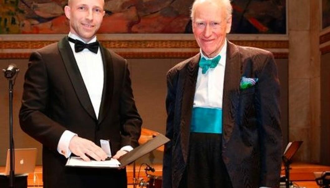 Anders Malthe-Sørenssen og Olav Thon. (Foto: Terje Heiestad)