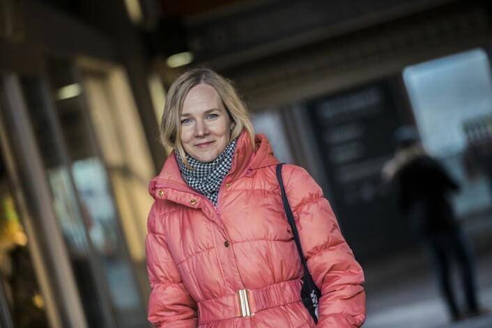 Paulina Junni er førsteamanuensis ved Handelshøyskolen BI, og har vært med på å undersøke 92 finske bedrifter som har vært involvert i ulike fusjonsprosesser.  (Foto: Torbjørn Brovold)